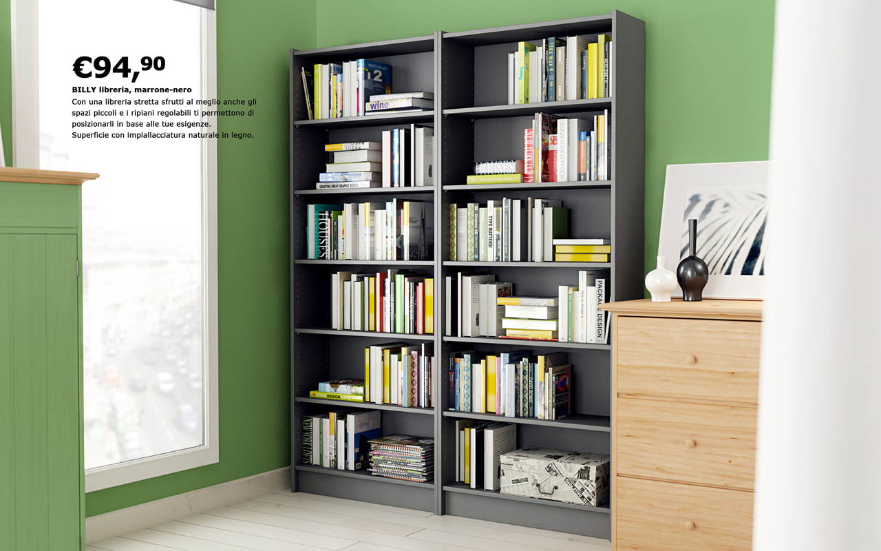 ikea bookcase billy with books models4d. Black Bedroom Furniture Sets. Home Design Ideas